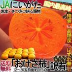おけさ柿 種無し柿 約3.75kg 新潟県産 訳あり品 JA羽茂ブランド 濃厚な甘さのたねなし柿!お得な家庭用の特産品フルーツ