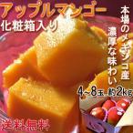 アップルマンゴー メキシコ産・ブラジル産・ペルー産 約2kg 4〜8玉 化粧箱入り 本場の味わい!甘み溢れる南国フルーツ!