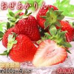 おぜあかりん いちご 約200g×4パック 群馬県産 贈答規格 春が旬の希少な晩生イチゴ!