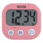 タニタ デジタルタイマー でか見えタイマー TD-384 フランボワーズピンク