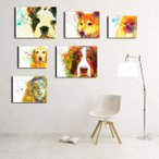 【Watch -Interior 6 Package-】 ワンにゃんアートキャンバス ドッグカフェやペットホテルのオーナー様にもオススメ S×2 M×2 L×2 (絵画/犬/インテリア雑貨)