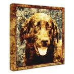 【Sit!】 ラブラドールレトリバー Mサイズ ワンにゃんアートキャンバス Vintage series (絵画/犬/インテリア雑貨/グッズ)