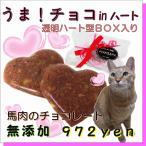猫用 バレンタインなど うま!チョコinハート ギフト
