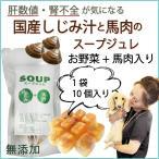 犬用手作りスープ 無添加手作り食 しじみと馬肉のスープジュレ 10個入りトッピング 肝臓 フード 栄養 5000円以上送料無料