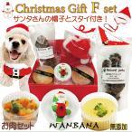 犬用クリスマスディナーお肉セットF xmasカップケーキと無添加手作りごはんBOX、サンタ帽子、マフラー付き 帝塚山WANBANA ワンバナ