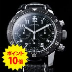全員ショップポイント10倍付 WANCHER ワンチャー 手巻き機械式 腕時計 3つ目 精密クロノグラフ モデル名 Aero Nacht / アエロナハト 保証書 【宅配便対応】
