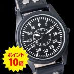 WANCHER ワンチャー クォーツ 腕時計 ヒストリカル フライト 「W.vogel」 ドイツ 空軍 パイロット フリーガー モデル ウォッチ 黒 ブラック