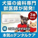 3個セット わんこの歯医者さん開発 Dr.YUJIRO 朝用 ハタ乳酸菌 デンタルパウダー 3000頭以上の犬の歯石除去/歯石取りを行ってきた獣医師が開発