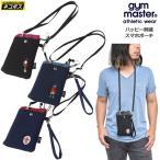 ジムマスター gym master スマホポーチ ウォレット メンズ レディース ハッピー刺繍スマホポーチ G421608  [M便 1/1]