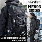 ナリフリ narifuri ジャガードカモフラージュ バックパック M ブラック  NF993 JACQUARD CAMOUFLAGE BACKPACK