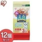 キャットフード 安全 猫 ご飯 エサ 美食メニュー アイリスオーヤマ 栄養補完食 猫用 ツナ一本仕込み かつおぶし入りゼリー仕立て 12個セット 36パック P-BI60KJ