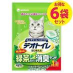 デオトイレ 飛び散らない消臭サンド緑茶2L ユニチャーム(6袋セット)