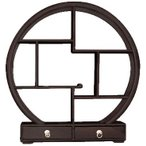 【引出付き丸い飾り棚S】アジアン家具 飾り棚 和風 和家具