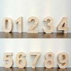 木製 数字【小文字】オブジェ(1〜0)高さ7cm  パイン材の無塗装仕上げなのでお好みで簡単着色できます!数字 ナンバー 木製 オブジェ エンブレムやプレート