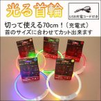 光る首輪 光る LED 犬用 首輪 夜間 散歩 安心 安全 レインボーあり USB 充電式 ハサミでカット 簡単着脱