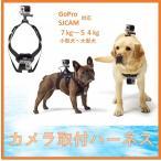 犬 ハーネス カメラ GoPro SJCAM 小型犬 中型犬 大型犬 アクションカメラ 取付 動画 撮影 ゴープロ チェストマウントハーネス