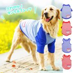 犬 服 夏 タンクトップ Tシャツ ストライプ 大型犬 中型犬 超大型犬 ボーダー 薄手 犬の服 爽やかビッグTシャツ 送料無料