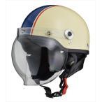シールド 付き ハーフ ヘルメット | バイク バイク用品 ハーフヘルメット バブルシールド イヤーカバー ネイビー アイボリー ブラック