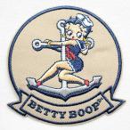 ショッピングワッペン ワッペン ベティブープ Betty Boop(マリン/セーラー) BBW-005
