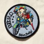 ワッペン ベティブープ Betty Boop(バイク) 名前 作り方 BBW-012