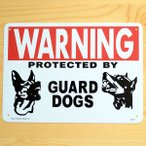 看板/プラサインボード 番犬に注意 Warning Guard Dogs CA-17 *メール便不可