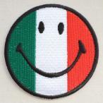 ショッピングワッペン ワッペン スマイルマーク/スマイリーフェイス(イタリア国旗)