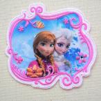 ワッペン ディズニー アナと雪の女王(アナ&エルサ) 名前 作り方 D01Y0091