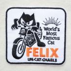 ワッペン フィリックスザキャット Felix The Cat(Wink) 名前 作り方 FFB-001-WK