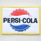 ワッペン ペプシコーラ Pepsi-Cola('60sロゴ/ボトルキャップ/レクタングル) HCH-001D