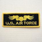 ミリタリーワッペン U.S.Air Force エアフォース (イエロー/ブラック) 名前 作り方 LFW-006