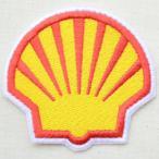 ロゴワッペン Shell シェル オイル(ダイカット)