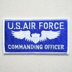 ショッピングワッペン ミリタリーワッペン U.S.Air Force エアフォース コマンディングオフィサー アメリカ空軍