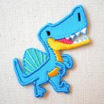 ワッペン へなちょこZOO(恐竜/スピノサウルス) 名前 作り方 ORG350-23079