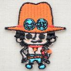 ワッペン ワンピース One Piece ポートガス・D・エース(シール/アイロン両用) PES012