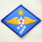ミリタリーワッペン Far East エアフォース ブルー ダイヤ PM0165