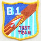 ミリタリーワッペン B1 Test Team アメリカ空軍 エンブレム PM5356