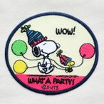 ショッピングワッペン シールワッペン スヌーピー Snoopy(パーティ) S02Y8905