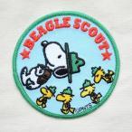 シールワッペン スヌーピー Snoopy(ビーグルスカウト/ラウンド) S02Y8906