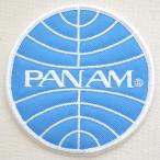 ロゴワッペン パンアメリカン航空 パンナム PANAM(ラウンド) WA0024