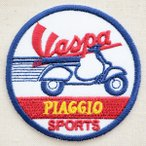 ショッピングワッペン ロゴワッペン ベスパ Vespa(ラウンド) バイク オートバイ