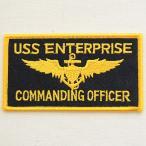 ミリタリーワッペン USS Enterprise エンタープライズ コマンディングオフィサー アメリカ海軍 WM0083