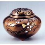 Yahoo!和楽雑貨香炉 香立て| 平型 梅 象嵌(ぞうがん) |銅製 桐箱入 【高岡銅器 置物】d61-07
