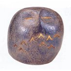 Yahoo!和楽雑貨置物|小物| ランタン ふくろう(梟・フクロウ) |馬場忠寛作 鋳鉄製 照明コード付き 紙箱入り【高岡銅器 置物】
