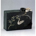 花器 花瓶【 花器 白鳥  】大森孝志作 青銅(ブロンズ)製 紙箱入り【高岡銅器 置物】
