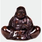 |達磨大師 座像|昇作 青銅(ブロンズ)製 古手研出し色 【高岡銅器 置物】
