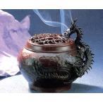 香炉| 香立て|香炉 蚪龍文(きゅうりゅうもん)|須賀月真作 蝋型青銅(ブロンズ)製 証付・桐箱入り|高岡銅器 置物|