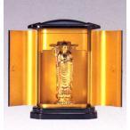 仏像| 地蔵菩薩 純金メッキ仕上 PC厨子入り|合金製 紙箱入【高岡銅器】10z24-7
