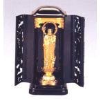 仏像■ 子安地蔵菩薩 3人水子 純金メッキ仕上 3号厨子入り■合金製 紙箱入【高岡銅器】