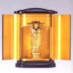 仏像| 子安地蔵菩薩 純金メッキ仕上 PC厨子入り|合金製 紙箱入【高岡銅器】10z30-5