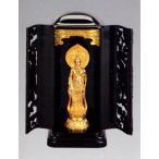 仏像| 聖観音菩薩 巻物持ち 純金メッキ仕上 3号厨子入り|合金製 紙箱入【高岡銅器】10z5-4